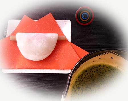 花びら餅&お抹茶 1