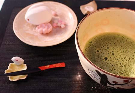 抹茶&雪うさぎ1
