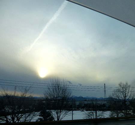 帰路 飛行機雲