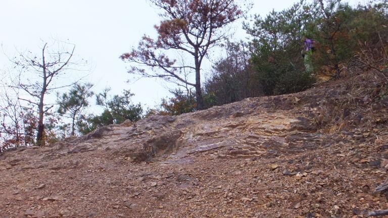 露岩の登山道