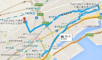 map兵庫県神戸市中央区北野町