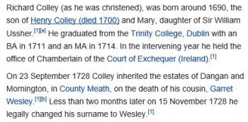wikiRichard Wesley, 1st Baron Mornington1