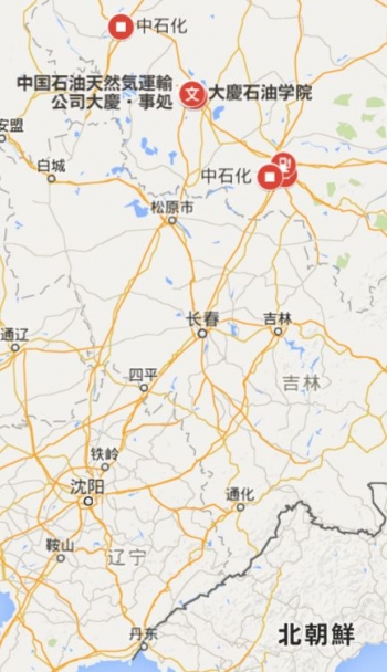 map中国 大慶原油