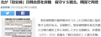 news北が「慰安婦」日韓合意を非難 保守VS親北、韓国で再燃