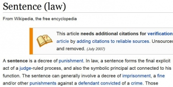wikiSentence (law)