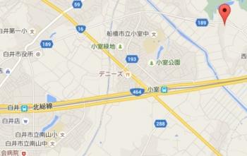 map千葉県白井市清戸272