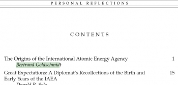 International Atomic Energy Agency Personal Reflections