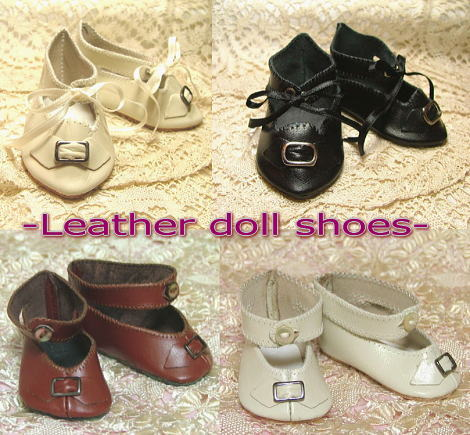 Leather doll shoes