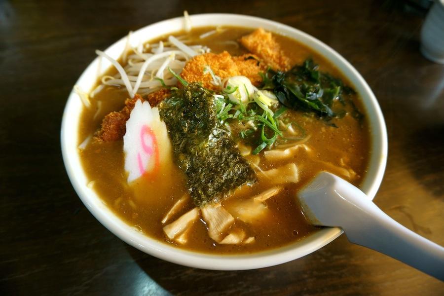 古峯神社から~の、大関食堂@鹿沼市下沢 大関食堂、カレーカツラーメン1