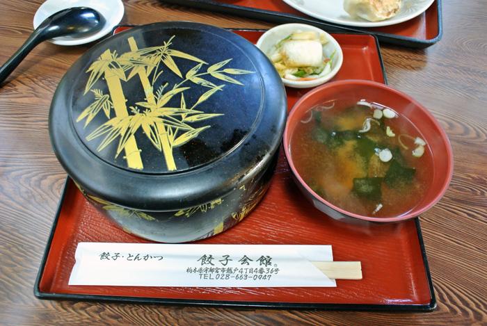 餃子会館 本店@宇都宮市越戸 カツ丼1