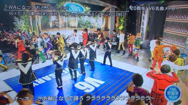 【FNS歌謡祭】V6メドレーでジャニーズが派閥を越えてWAになって踊るwwwwwwww