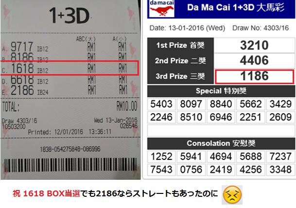 BOX当選20160113