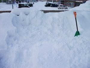 160111雪捨て場