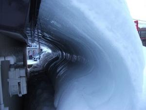 160206屋根下雪