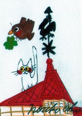 風見鶏の館 白猫のミ―シャ