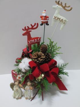 クリスマスフラワーアレンジメント