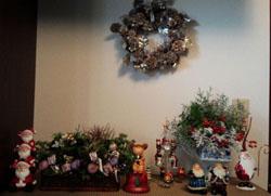 玄関にクリスマス