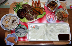母の祝ご飯