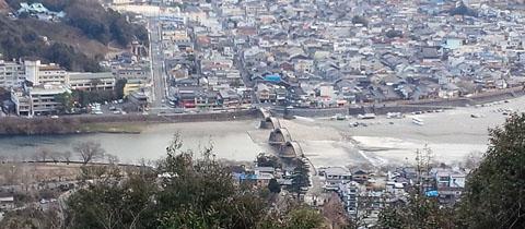 山頂から錦帯橋