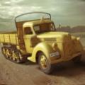 走る黄色い車