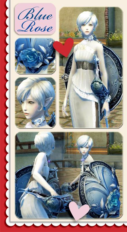 青薔薇剣盾コーデ