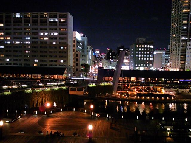 湊町リバープレイスから見た夜景2015