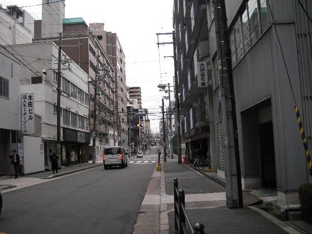 大阪古書会館への道201512