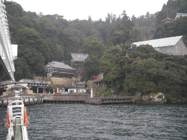 竹生島接近201601-3