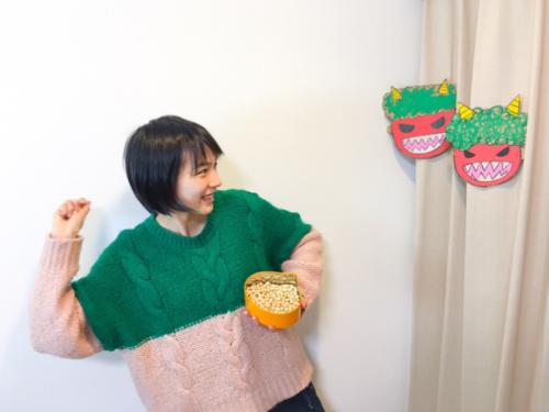 """能年玲奈 """"節分劇場""""にファン歓喜、10枚以上の連続写真で豆まき報告。8"""