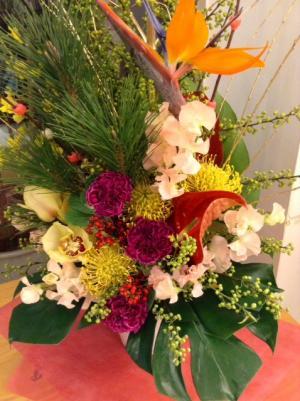 SS20160101モス新年の生け花