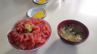中オチマグロ丼