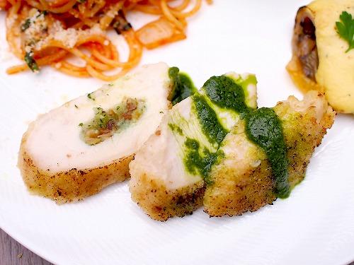 鶏胸肉の香草パン粉焼き02@東京ベイ舞浜ホテル クラブリゾート DINING SQUARE THE ATRIUM 2015年11月