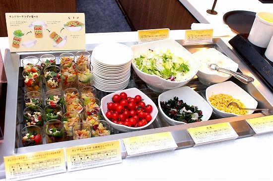 サラダコーナー01@東京ベイ舞浜ホテル クラブリゾート DINING SQUARE THE ATRIUM 2015年11月