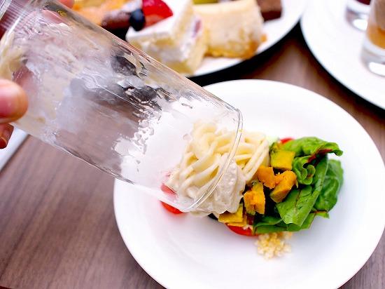 タンブラーサラダ ショートパスタとニソワーズのサラダ01@東京ベイ舞浜ホテル クラブリゾート DINING SQUARE THE ATRIUM 2015年11月
