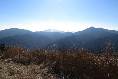 箱根の山々