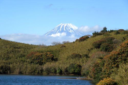 氷ヶ池と富士山