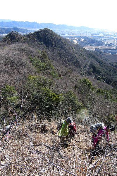 一床山への急登