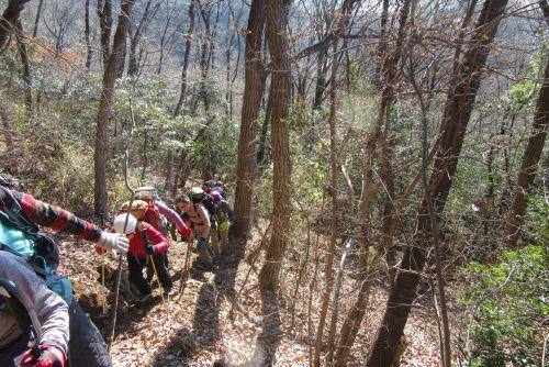 三床山への急登