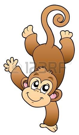 8475476-面白いかわいい猿---イラスト。
