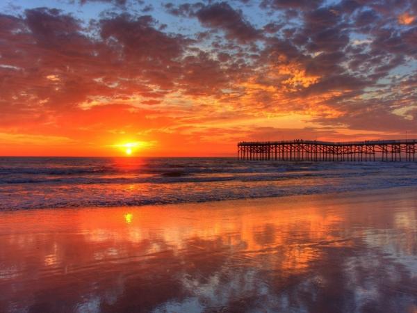 風景、海、ビーチ、夕焼け-1920x2560