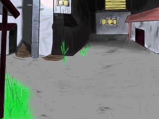 戦闘背景-現代(夜の街)