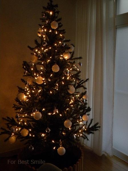 11>2015年のシンプルなクリスマスツリー
