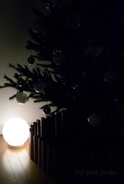12>2015年のシンプルなクリスマスツリー