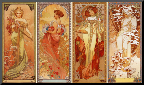 アルフォンス-ミュシャ-四季-1900
