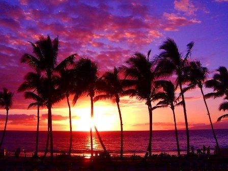 ハワイ夕日2