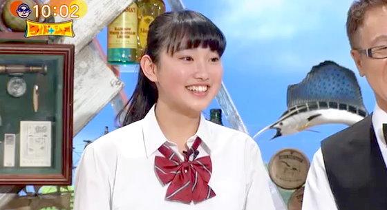 ワイドナショー画像 女子高生の青木珠菜(あおきじゅな)が松本人志からスカートが短いと指摘され天然の返し 2015年12月13日