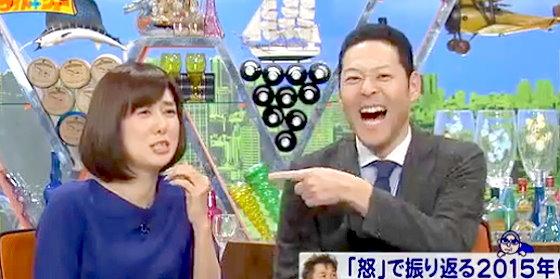 ワイドナショー画像 武田鉄矢のクレームの付け方に山崎夕貴アナ「嫌なやり口ですね」 2015年12月13日