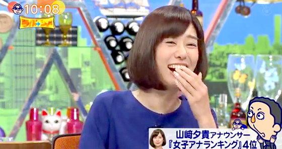 ワイドナショー画像 山崎夕貴アナが「好きな女子アナランキング」で4位になり家族がお祝いと大騒ぎ 2015年12月13日