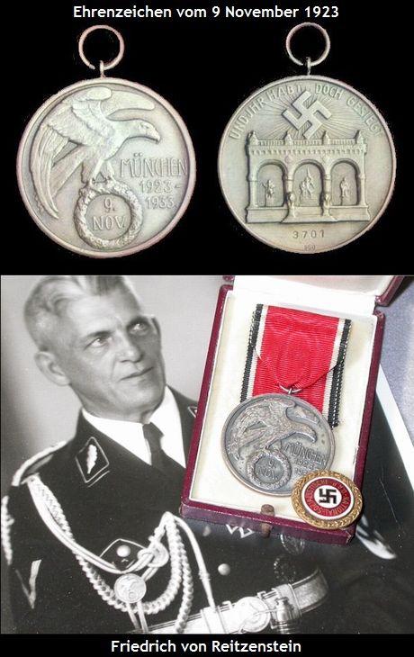 Ehrenzeichen vom 9 November 1923_Freidrich von Reitzenstein