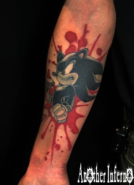 タトゥー アニメ 刺青 名古屋 シャドウ・ザ・ヘッジホッグ
